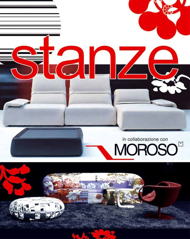 stanze in cooperation with moroso. Black Bedroom Furniture Sets. Home Design Ideas