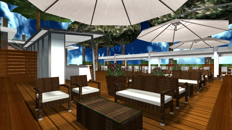 Progetti di arredamento per spazi esterni novit su for Arredamento da esterno per bar