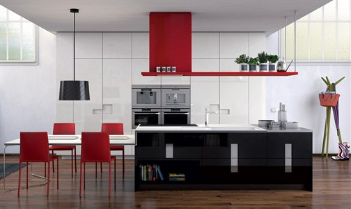 "Modern Kitchens, Ernestomeda, Carrè design by Marc Sadler - ""If I had to describe Carré in a single word, I would choose multifaceted, the best adjective for explaining its polyhedral character."" (Marc Sadler)"