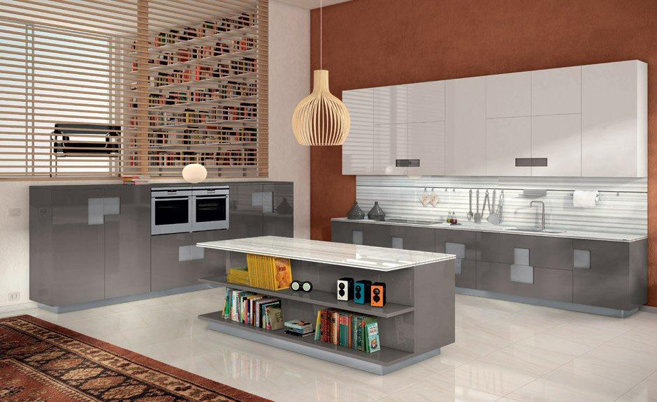 Cucine Moderne, Ernestomeda Mod. Carrè - design Marc Sadler
