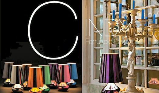 Cindy is the new Kartell table lamp. With a conical lampshade and ...