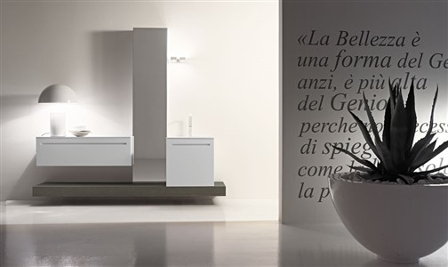 Design Bathrooms, Edonè, The highest expression of Made in Italy for bathroom furniture. - Bathroom furniture, modular design, quality materials and workmanship, friendly to the environment. Unique use of water-based paints. All Edonè collections are designed in modules, to give the customer the opportunity to build your own bathroom in a unique way. Modular design for a fully customized and tailored piece of furniture.